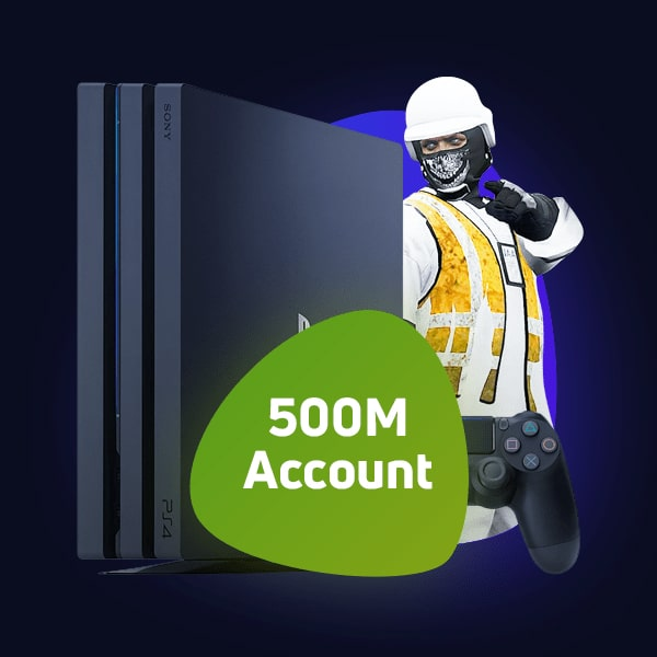 Modded Account GTA Online PS5/PS4 500 Million